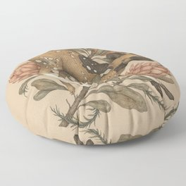 African Wild Dog Floor Pillow
