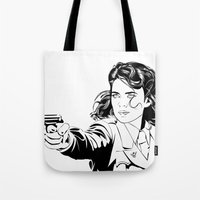 peggy carter Tote Bags featuring Peggy Carter by Christine Ring