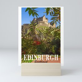 Edinburgh Castle Poster art Scotland Mini Art Print