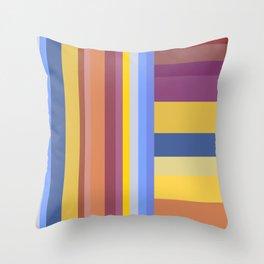 Ribbon Stripes Throw Pillow