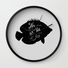 Big Fish Little Fish Wall Clock
