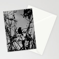 Silhouette Bird.  Stationery Cards