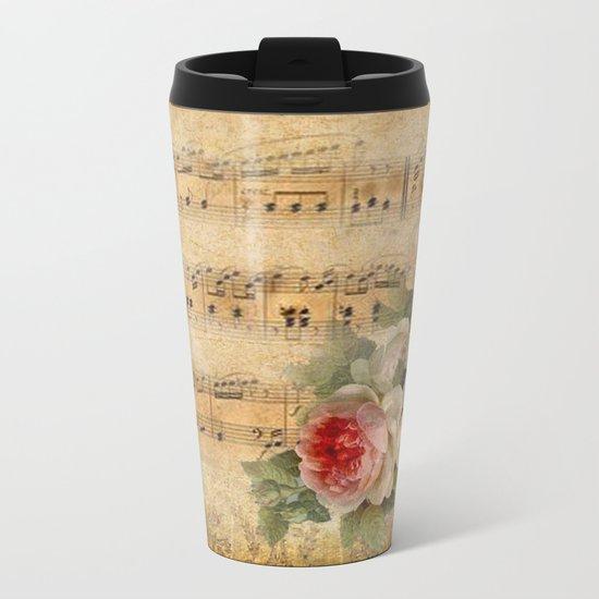 Vintage Music #1 Metal Travel Mug