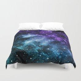 Purple Teal Galaxy Nebula Dream #1 #decor #art #society6 Duvet Cover