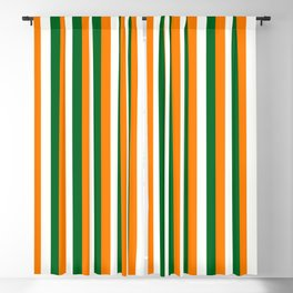 Team Colors 4... orange green white Blackout Curtain