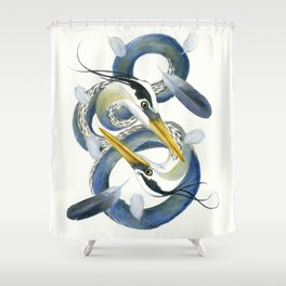 A Couple Of Herons Shower Curtain