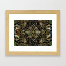 Surrounded by Lava Framed Art Print