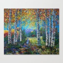Nocturne Blue - Palette Knife Canvas Print