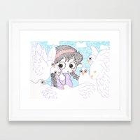 laputa Framed Art Prints featuring laputa howl moving castle by di yirou