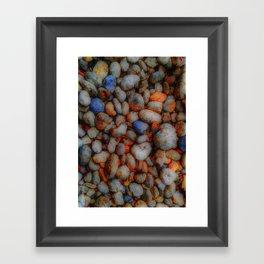 Glowing Pebbles Framed Art Print