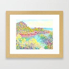 MONET : Landscape Near Montecarlo Framed Art Print