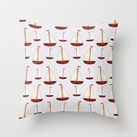 ships Throw Pillows featuring Ships by Stephanie Says