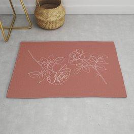 Pink roses illustration - Delia Rug
