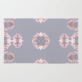 Pale pink wildflowers Rug