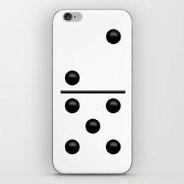 White Domino / Domino Blanco iPhone Skin