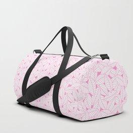 Leaves in Flamingo Duffle Bag