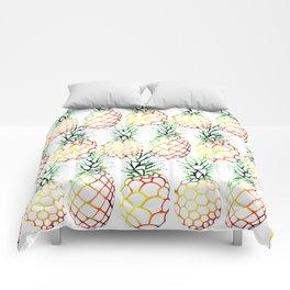 Retro Pineapples Comforters