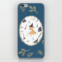 Blue Magical Fox iPhone Skin