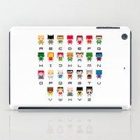 aquaman iPad Cases featuring Superhero Alphabet by PixelPower