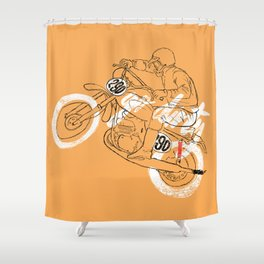 go dirty Shower Curtain