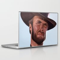 clint eastwood Laptop & iPad Skins featuring Clint by Mark Hammermeister