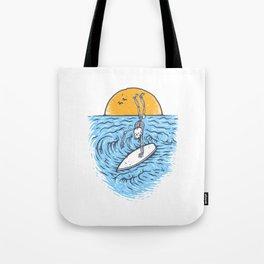 Death Surfer Tote Bag