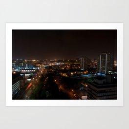 Bright Lights, Big City. Art Print