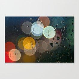 Bokeh and Water Drops Canvas Print