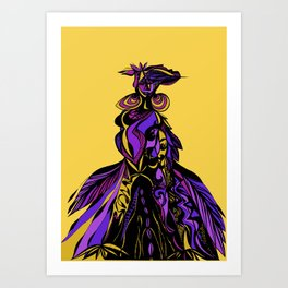 african lady Art Print
