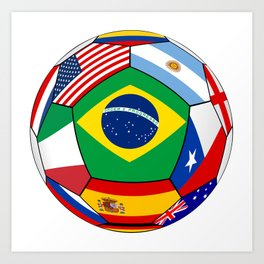 Ball With Various Flags Art Print