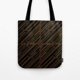 Art Deco Golden Lines Tote Bag