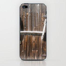 Rustic Barndoor 3 iPhone Skin