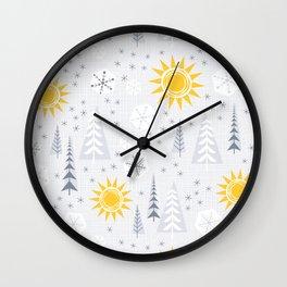 Winter Sunshine Wall Clock