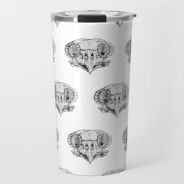 Owl Skull sketch study Travel Mug