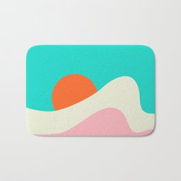 Retro Beach Wave Bath Mat