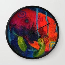 Young Manatee Wall Clock