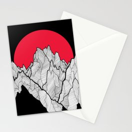 Line peaks Stationery Cards