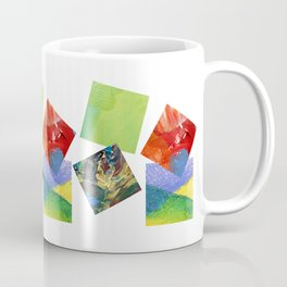 Painted Squares Jiggle Coffee Mug