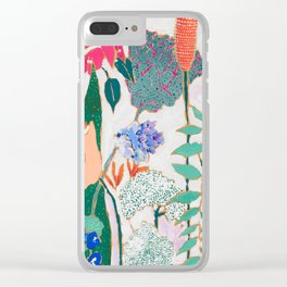 Speckled Garden Clear iPhone Case