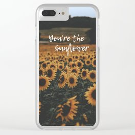 You're The Sunflower Clear iPhone Case