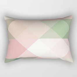 Modern blush tones pink abstract geometrical triangles Rectangular Pillow