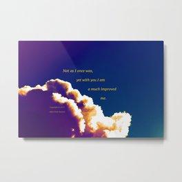 """Post-Rain Clouds #18"" with poem: New Beginnings Metal Print"