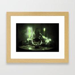 2:30 Gypsy Green Fortune Framed Art Print