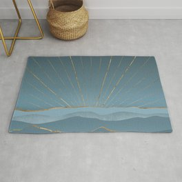 Blueprint Abstract Nature Composition Rug