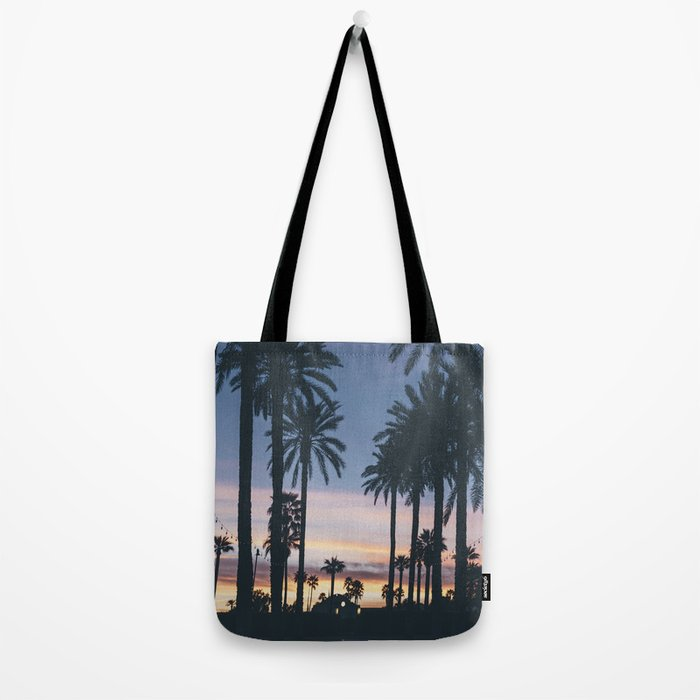 Sunset in the City (Hawaii Tropical Palm Trees) Tote Bag