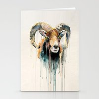 ram Stationery Cards featuring Ram by Slaveika Aladjova