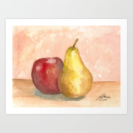 A Fruity Pair Art Print