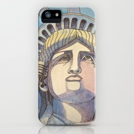 Weeping Statue of Liberty iPhone Case