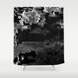 Cellular Automata 01 Shower Curtain