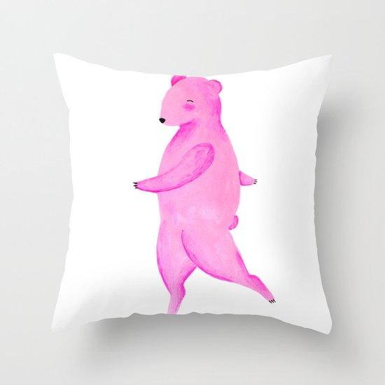 Dancing Bear №2 Throw Pillow
